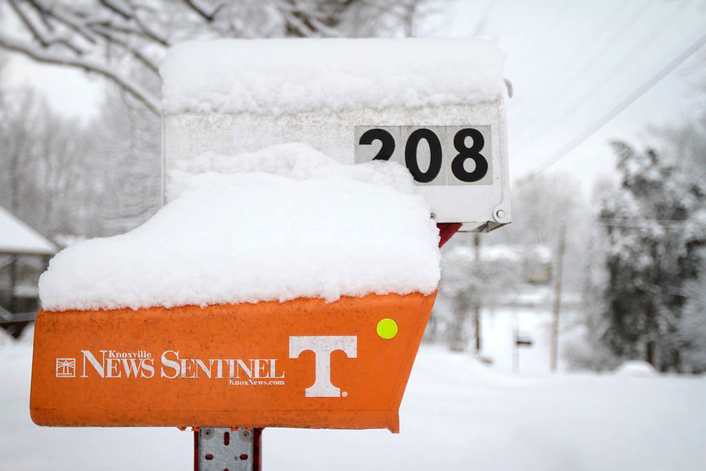 Knoxville News Sentinel mailbox