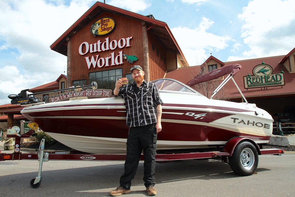 Hardee's and Bass Pro Shop gave this boat away.